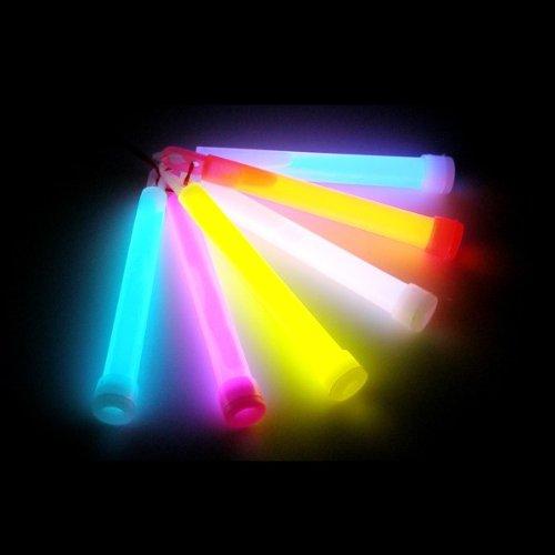 24 Knicklichter dick farbig Glow Stick Leuchtstäbe,Ø 15 mm, Länge 150 mm (Dick-stick)
