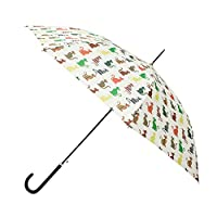 Signare Womens Automatic Stick Umbrella in Cheeky Cat Design (UM-ST-CHEKY)