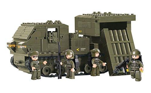 Lego-sets Weltkrieg (Funstones - Baustein Set Army Armee Ketten Raketenwerfer Panzer + Soldaten Bausteine Bausatz Set)