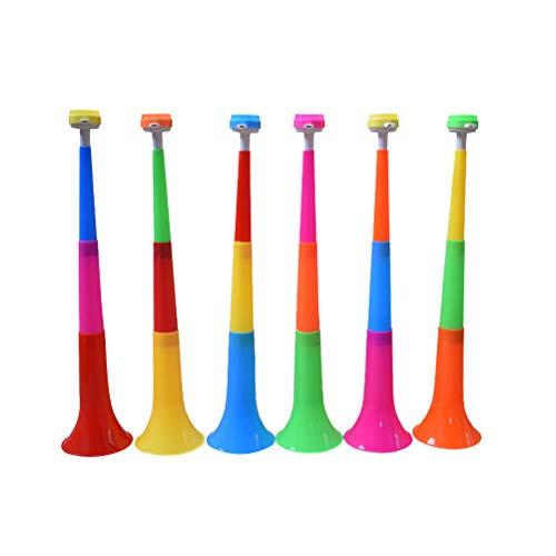 STOBOK 10 stücke Party Hörner Krachmacher Kinder Trompete Spielzeug Instrument Vuvuzela Faltbare Stadion Horn für Kleinkinder Fußball Fan (Horn Vuvuzelas Fußball)