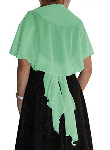 Circa - pecora, Banana antisguardi, Bolero, posteriore Chiffon allacciare ca 150 x 125 cm compatibile con sposa dell'abito/da sera verde tiglio