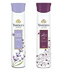 Yardley London Deodorant For Women English Lavender and Lace Satin Combo Pack 2 (150 ml)