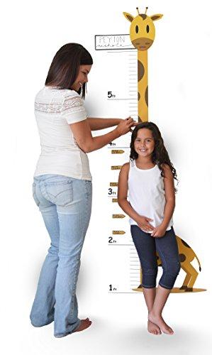 Preisvergleich Produktbild Oversize Kalender Messlatte Wand Aufkleber–Messlatte Giraffe gelb