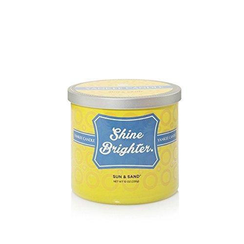Yankee Candle Duftkerze, Glas, bunt, 9.5x9.5x8.5 cm - Zitrus Duftkerze