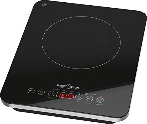 einzelkochplatte induktion Profi Cook PC-EKI 1062 Induktions-Einzelkochplatte, automatische Topferkennung, elektronisches Sensor Touch-Bedienfeld mit Display, 180 Minuten-Timer, Kindersicherung