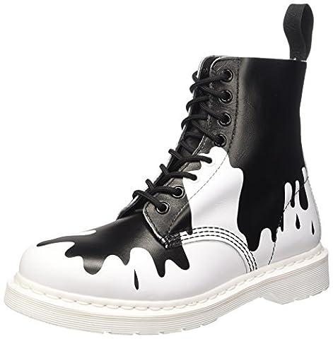 Dr. Martens - DMSPASCWHBP21091009 - Low-Top Chaussures, multicolore (blanc soft t/noir pain), taille 42