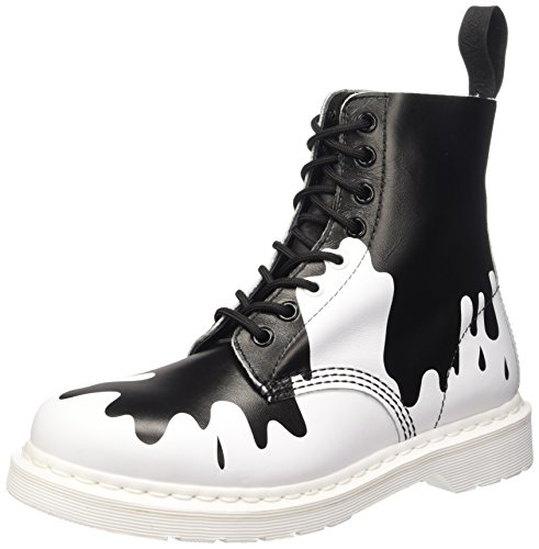 Dr. Martens Unisex-erwachsene Pascal Pumps Multicolore (bianco Soft T / Black Pain)