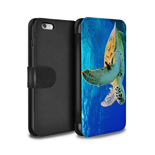 Stuff4 Coque/Etui/Housse Cuir PU Case/Cover pour Apple iPhone 4/4S / Loup Design / Animaux sauvages Collection Tortue