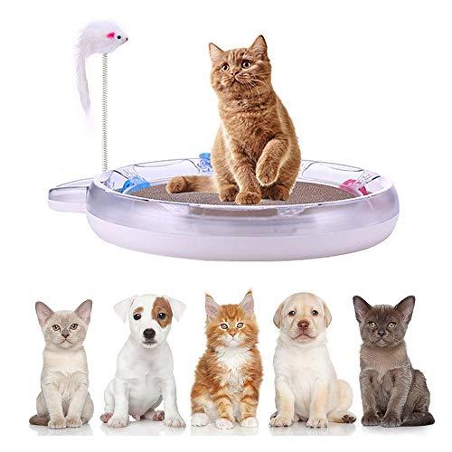 KOBWA Katzenbett Katzenzelt Katzenkissen Tierbett Katzenspielzeug Play Interaktives Katzenspielzeug mit Kratzmatte Tempo-Spielschiene für die Krallenpflege