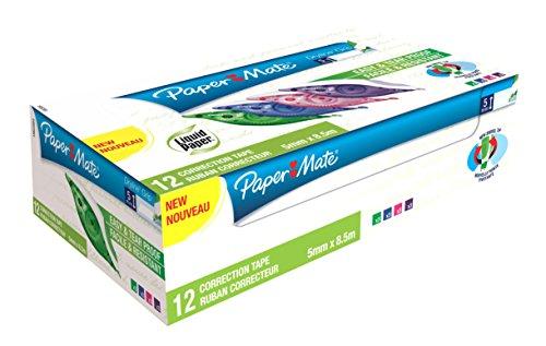 papermate-dryline-grip-85m-verde-bianco-12pezzoi-nastro-di-correzione