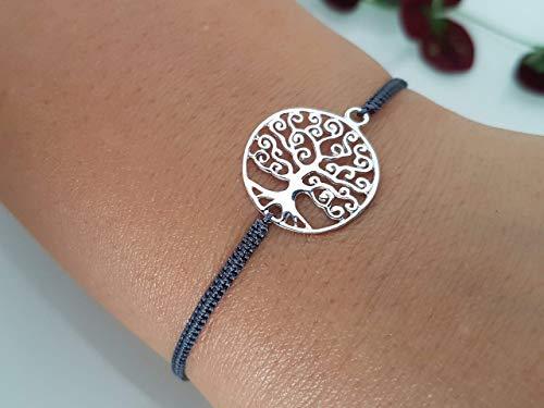 Armband Lebensbaum Geflochten 925 Silber