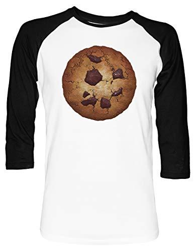 The Perfect Cookie Unisex Baseball T-Shirt 2/3 Ärmel Herren Damen Weiß Schwarz