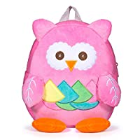 Czemo Children Backpack Plush Toddler School Bag Cute Cartoon Animal Kindergarten Rucksack for Girls and Boys