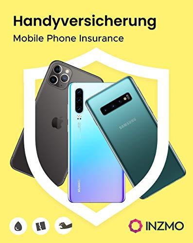INZMO Geräteschutz Versicherung für Mobiltelefone und Smartphones - 2 Jahre Beschädigungs- & Diebstahlschutz, Gerätekaufpreis von 251€ bis 500€