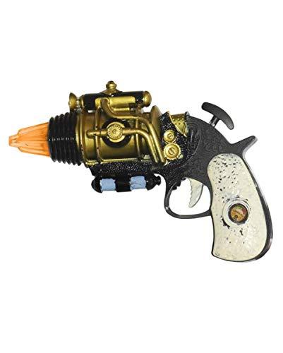 Horror-Shop Steampunk Revolver 16cm für Fasching & - Im Viktorianischen Zeitalter Kostüm