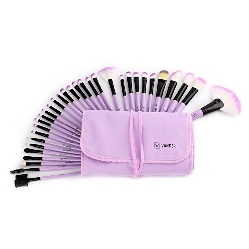 Vander 32 Stück Bürsten Kosmetik Professional Essential Make-up Pinsel Set Kits mit Beutel (32 Stück Beauty Set)