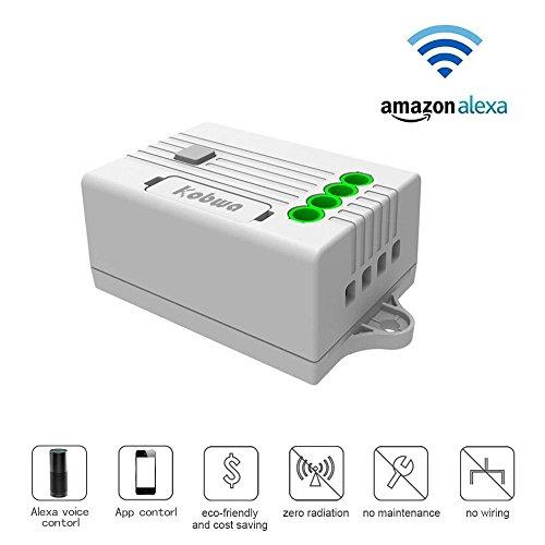 Wifi Lichtschalter Empfänger Funkschalter Set Dimmbar mit Amazon Alexa Steuerbar Smart Home (Dimmer Installieren Lichtschalter)