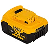Dewalt DCB184 5.0AH LI-ion XR Slide Pack Battery, 18 V, Black/Yellow