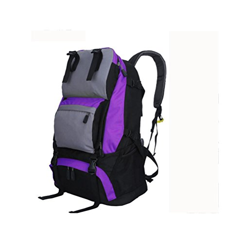 Zaino 40L viaggio all'aperto Backetravel sacco da alpinismo , black purple