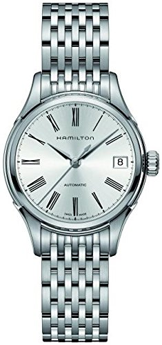 Hamilton Women's Valiant 34mm Steel Bracelet & Case Automatic Silver-Tone Dial Analog Watch H39415154