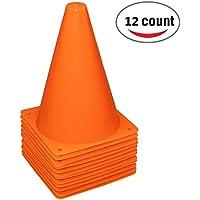 Reehut 7.5 Pulgadas de Cono de tráfico plástico para Entrenamiento (Juego de 12) - Naranja