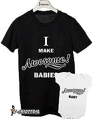 t-shirt body día y del padre tamaño pequeño-I make awesome babies-awesome baby-de mujer todas las tallas by tshirteria Camiseta para hombre negro Talla:EXTRA EXTRA LARGE uomo (18- 24 mesi)