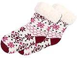 Alsino Wintersocken Norweger Socken Kinder 30-35 Hüttensocken Mädchen Rot Pink mit Antirutschsohle SO-W-107-6