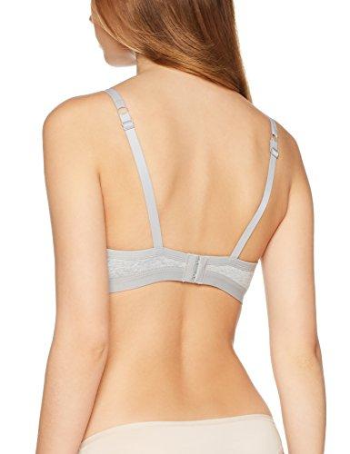 Iris & Lilly Damen Body Natural BH gepolstert bügellos Grau (Grey Marl)