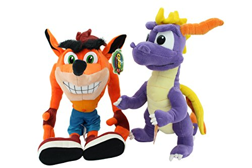 Preisvergleich Produktbild Set 1 xCrash Bandicoot Playstation ca. 60 cm XXL 1 x SPYRO the dragon 30 cm