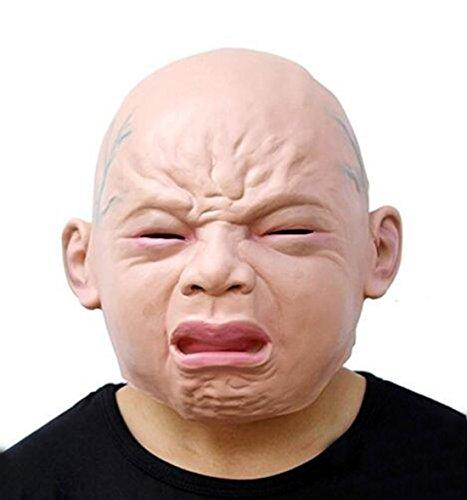 HJJHJ Maske Neuheit Deluxe Halloween Kostüm Party Latex Cry Baby Latex Kopfmaske (Baby Deluxe Halloween Kostüme)
