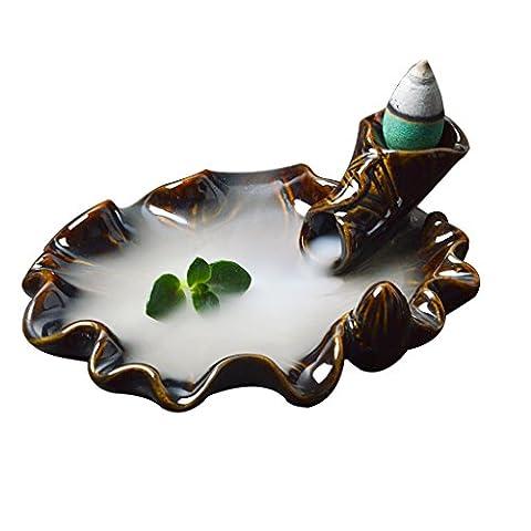 Brûle-encens Céramique Brûleur de Cône Encens Refoulement Encensoir
