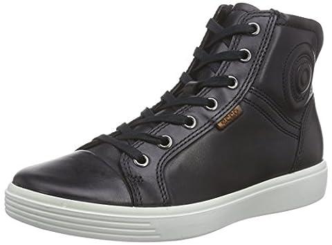 Ecco ECCO S7 TEEN, Unisex-Kinder Hohe Sneakers, Schwarz (BLACK2001), 38 EU (5 Kinder UK)