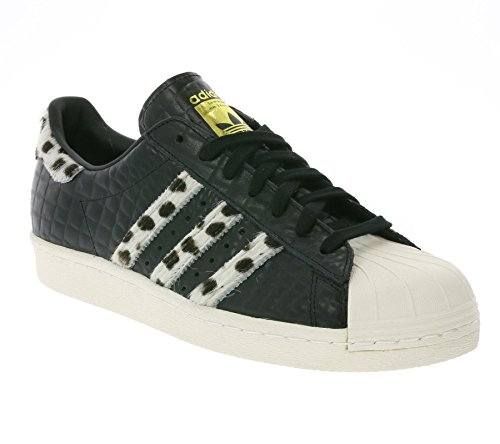 Adidas Superstar 80s Animal, core black/chalk white/gold metallic Schwarz