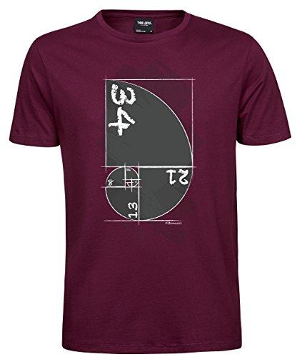 makato Herren T-Shirt Luxury Tee Fibonacci Wine