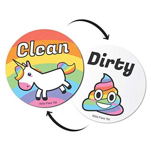 Imán lavaplatos diseño emoji unicornio