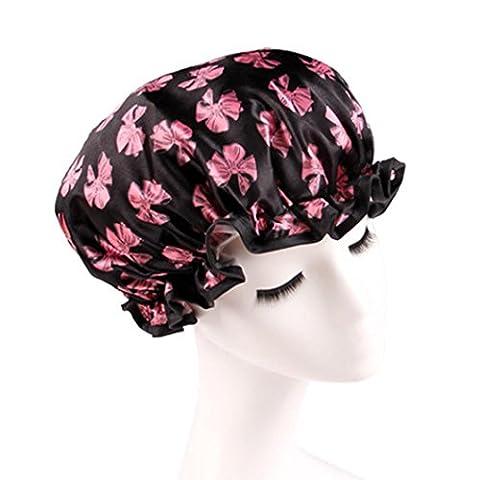 Igemy Femme bonnets de douche Bain/Douche coloré Cheveux Coque Bain adultes étanche D
