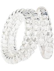 Fabuleux Set Kit Qualité Premium Pour Coiffures Stylisme Avec 3 Noeuds Spirales / Cordons / Cables Plastique à Cheveux Sans Traces, Couleur Transparente Par VAGA®