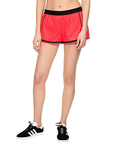 Superdry Women's Sport Mesh Insert Women's Red Shorts 100% Polyester Red