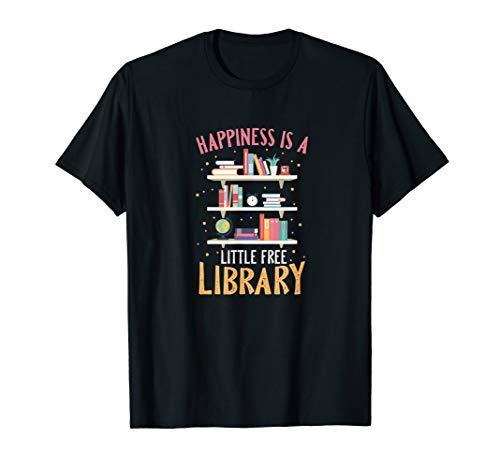Glück bedeutet eine kleine Bücherei umsonst Bücherwurm Shirt