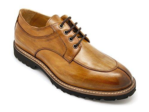 Exton scarpe uomo stringate made in italy tomaia pelle anticata whisky (eu 43)