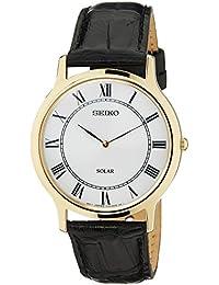 Seiko Herren-Armbanduhr Analog Quarz Leder SUP878P1