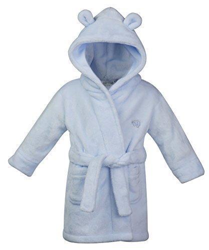 Style Mixx Baby/Jungen/Mädchen Bademantel mit Ohren, Fleece, superweich - blau 18c205, 12-18 MONTHS