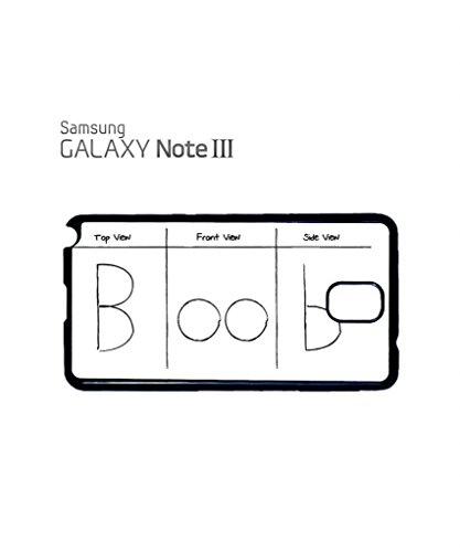 Boob Titties Naked Drawing Cell Phone Case Samsung Galaxy S4 Mini Black Blanc