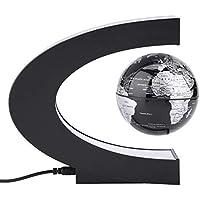 Filfeel Globo de suspensión de forma de C, decoración del hogar de oficina Mapamundi flotante