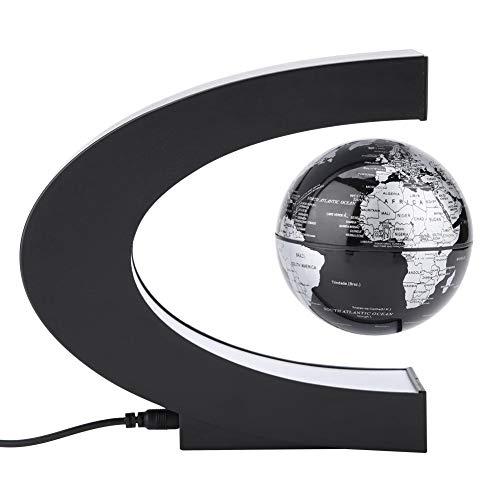 Filfeel Globo de suspensión de forma de C, decoración del hogar de oficina Mapamundi flotante Globos Planeta giratorio Navidad Regalo de cumpleaños