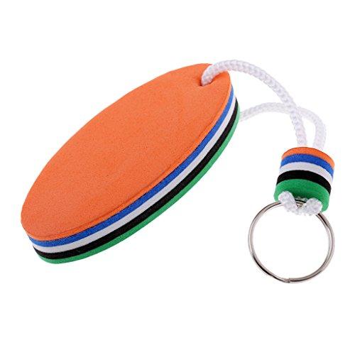 Homyl Schlüsselanhänger Schlüsselbund mit Schlüsselring Surfbrett Form, Floating Keychain - Grün und Orange