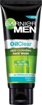 Klar Reinigungsschaum (Garnier Herren- Öl Klar Tiefenreinigung Gesichtsreinigung -100 G - Packung Von 2)