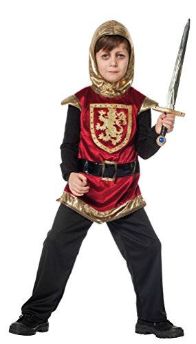 Karneval Klamotten Ritter-Kostüm Kinder Jungen Kinderkostüm rot-schwarz-gold Kreuz-Ritter Mittelalter-Kostüm Karneval Größe (Kostüme Kreuzritter)