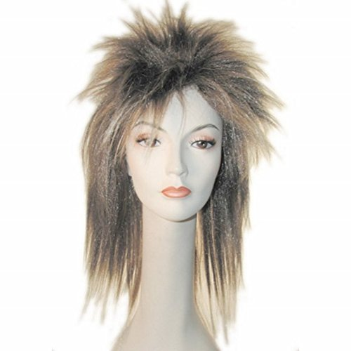 Bowie Kostüm David - Blonde Perücke Tina Turner Labyrinth Jareth David Bowie 80 er Glam-Kostüm für Damen