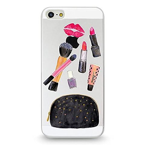 Handyhülle für Apple iPhone 5 / 5S (Kosmetiktasche) - Hülle - Schutzhülle mit Motiv - TPU Silikon Hülle - Case - Cover - Schale - Backcover -